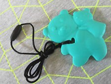 """Silicone Teething Beads for Baby & Mum Jewellery Necklace Pendant Teether """"Jaws"""""""