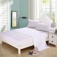4 Piece Bed Sheets Set 1800 TC Bedding Full Twin Queen King Cal King Size White