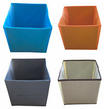 SQUARE FOLDING CANVAS STORAGE BOX - 260 mm (10'') - EASY TO FOLD - 6 COLOURS