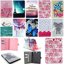 "Folio Flip Leather Case Cover Stand For Samsung Galaxy 7""-10.1"" Tab3 Tab4 Tablet"