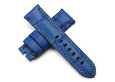 24mm Handmade Genuine Alligator Leather Watch Band Strap For PAM44 Luminox Color