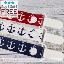 Anchors Hand Made Dummy/Pacifier Clips / Chain