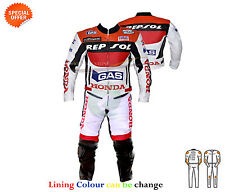 motorbike leather suit two piece in cowhide leather racing leather suit any size