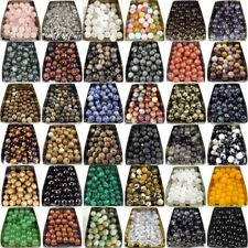 lot natural gemstone spacer loose beads stone 4mm 6mm 8mm 10mm jewelry DIY
