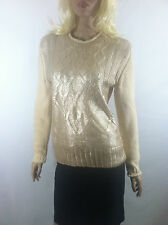 NWT Narciso Rodriguez for DesigNation Foil Cable-Knit Sweater Sz.XS, XL New
