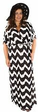 New Womens Plus Size Aztec Stripe Belted Front Wrap Maxi Dress 12-22