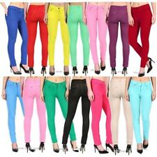 Womens Skinny Jeans Fit Coloured Jeggings Stretchy Trousers Summer Size 8-26