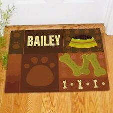 Personalized Dog Paw Print Doormat Dog Lover Welcome Doormat Paw Print Door Mat