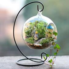Metal Hanging Flower Plant Vase Pot Stand Holder Landscape Garden Yard Decor