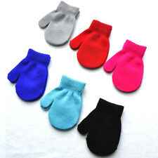 Kids Boys Girls Baby Knitting Warm Soft Gloves Candy colors Mittens Unisex