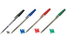 50 x Banner Ballpoint Pens Medium Colour Choice of Black, Blue, Red or Green