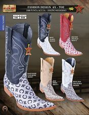 Los Altos 6X Toe Fashion Design Men's Western Cowboy Boots Diff. Colors/Sizes