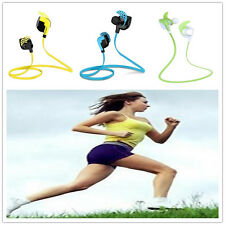Wireless Bluetooth Headphone Earphone Sports Running Workouts W/ Mic. Sweatproof
