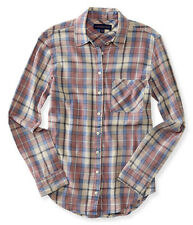 aeropostale womens long sleeve lightweight plaid woven shirt