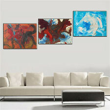 Wall Art Abstract Oil Painting Canvas Colorful World No Frame Home Decor 3PCS