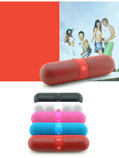 Portable Wireless Bluetooth Pill Speaker FM Radio  Micro SD card AUX Mp3 player