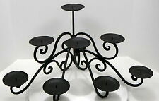 CANDLE WROUGHT IRON SCROLL 8 CANDLES EXCELLENT USED CONDITION