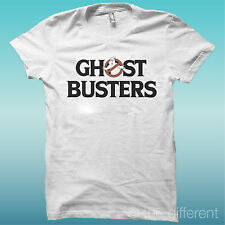 "T-SHIRT "" GHOST BUSTERS "" WHITE THE HAPPINESS IS HAVE MY T-SHIRT NEW"