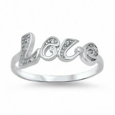 Love Ring 925 Sterling Silver 0.25CT Round Russian CZ Valentines Gift