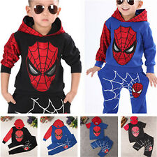 Baby Boy's Kids Spiderman Costume Tracksuits Hoodie Sweatshirt+Pants Outfit Sets