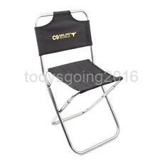 Outdoor Fishing Camping Hiking Folding Backrest Chair Foldable Garden Stool