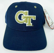 GEORGIA TECH YELLOWJACKETS NAVY NCAA VINTAGE FITTED ZEPHYR DH CAP HAT NWT!