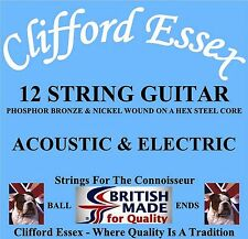 12 STRING GUITAR STRINGS. FOR ACOUSTIC & ELECTRIC GUITARS. TONE TESTED.