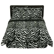 Black & White Zebra Safari Bedding Comforter Set & Sheets Bed In A Bag~6 Sizes