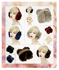 Womens Downy Faux Fur Winter Warmer Earmuffs Fashion Ear Muffs Foldable