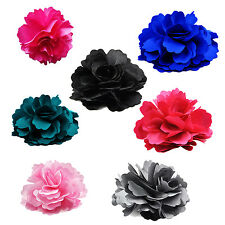 Silk Flower Hair Clip Wedding Corsage Flower Clip 8cm - Pink ZH