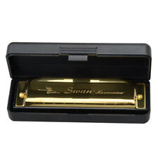 New Swan Key of G/C 10 Holes 20 Tones Diatonic Harmonica Golden for Student