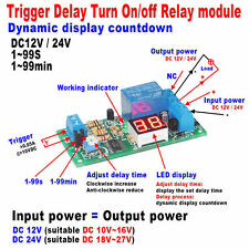 DC 12V 24V LED Display Relay Timing Timer Switch Delay Turn ON/OFF Relay Module