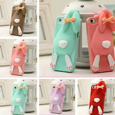 3D Cartoon Rabbit Bunny Silicone Soft Case For iPhone 5 5S 4 4S SE 6S 6 7 Plus