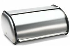 """Imperial Home Brushed Stainless Steel Rolltop 2-Loaf Capacity Bread Box, 16.5"""" X"""