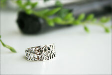 925 sterling silver peace ring, Peace Ring,Hammered Silver, Band Ring Size 5-9