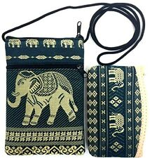 HOBO HMONG Thai ELEPHANT Handmade Handcraft Bag Cell Phone Purse Wallet Set 2 pc