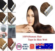 AU Stock PU Skin Weft Tape In Brazilian 100% Remy Human Hair Extensions 18Inch