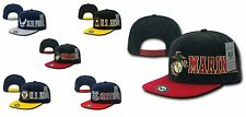 US Military Army Air Force Navy Marines Coast Guard Flat BIll BaseBall Hat Cap