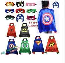 Boys and Girls Superhero Cape cape&mask for kids birthday party favors and ideas