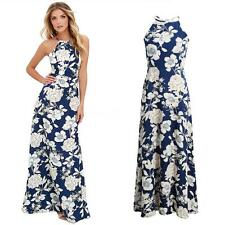 New Womens Sexy Floral Bodycon Evening Cocktail Party Sleeveless Maxi Dress W6H8