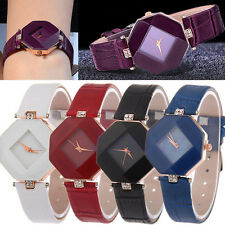 New Women's Watch Faux Leather Rhinestone Quartz Analog Wrist Watch Hot Sale