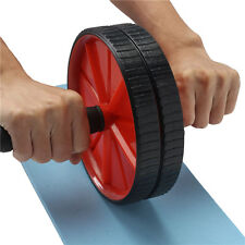 New Dual Abdominal Roller Wheel With Pad Exercise Fitness Gym