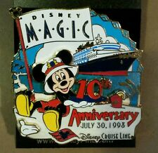 DISNEY CRUISE LINE PIN DCL LE 500 MICKEY 10th ANNIVERSARY MAGIC JULY 30,1998