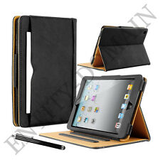 BLACK & TAN STAND SMART MAGNETIC LEATHER CASE COVER FOR IPAD 2 3 4 AIR PRO MINI