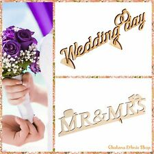 Wedding Marriage Wooden Inscription Shabby Chic Vintage Scrapbooking Decoration