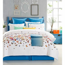 Beautiful Colorful Butterfly 8-PC Comforter Set Cal King Full/Queen King