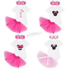 Newborn Infant Baby Girl  Romper Fancy Tutu Dress Skirt Outfit Clothes+Headband