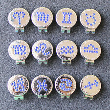 2016 New Blue Crystal Zodiac Golf Ball Marker w Magnetic Golf Hat Clip