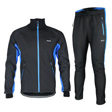 Mens Windproof Thermal Fleece Cycling Bike Bicycle Clothing Jersey&Pant Sets