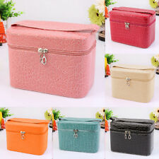 Hot Beauty Make Up Nail Tech Cosmetic Box Jewellery Vanity Case Storage Bag
